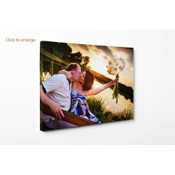 "Personalised photo canvas print your picture on 35x35cm - 14""x14""  Square"