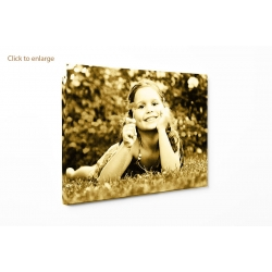"Personalised photo canvas print your picture on 100x70cm - 40""x28"""